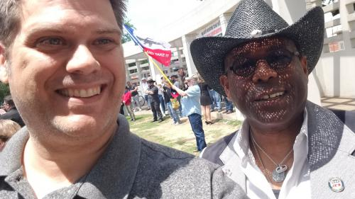 Me hanging out with Allen West in Dallas
